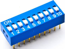 CHAVE DIP SWITCH * 10 VIAS * AZUL