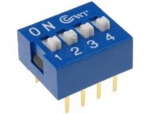 CHAVE DIP SWITCH * 04 VIAS * AZUL