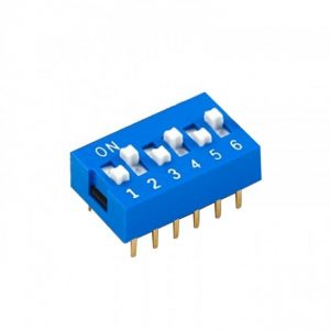 CHAVE DIP SWITCH * 06 VIAS * AZUL